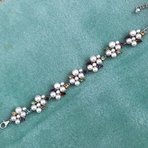 Jewelry - Authentic pearl and gemstone bracelet